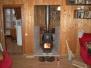 Печь Инженер с чугунной дверцей, расположение в смежнных комнатах
